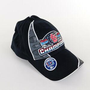 St Louis Cardinal Cap 2006 World Series One Size Black Gray Genuine Merchandise