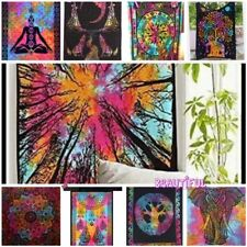 Indian Tapestry Wall Hanging Mandala Hippie Bedspread Bed Bohemian Cover UK