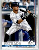 (15) 2019 Topps Update THAIRO ESTRADA 15-Card Base Lot Yankees Rookie #US168