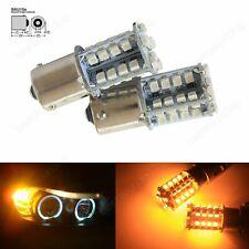 Paar PY21W 581 BAU15S 40 SMD LED Tagfahrlicht Lampe Blinker Blinklicht 12V Gelb
