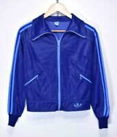 ADIDAS 70s VINTAGE TRACKSUIT TOP TRACK JACKET OLDSCHOOL TT RARE RETRO size SMALL
