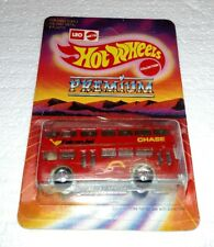 HOT WHEELS LEO INDIA DOUBLE DECKER BUS RED CHASE FALCON JET UNPUNCHED NEW