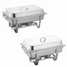 More details for 13.5l chafing dish single stainless steel buffet party food warmer pans & fuel