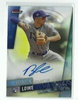 2019 Topps Finest Brandon Lowe AUTO RC, Refractor, Rays Rookie!