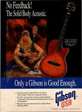 1993 VINTAGE 8X11 PRINT Ad FOR GIBSON GUITARS BRET MICHAELS POISON CHET ATKINS 6