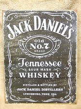 Jack Daniels Weathered Tennessee Whisky Sour Mash Old 7  Tin Metal Sign Decor