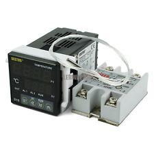 220V Digital PID Temperature Temp Control Controller + 25DA SSR + PT100 Sensor
