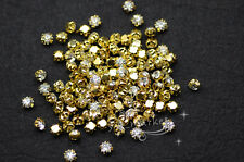 1440 PCS Loose crystal sew on rhinestone SS18 golden clear
