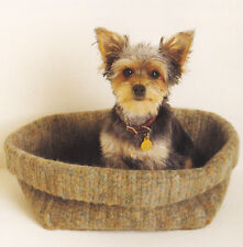 Crochet Pattern ~ DOG OR CAT FELTED BOX Pet Bed ~ Instructions