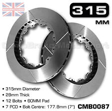 "BRAKE DISC / ROTOR 315MM X 28MM 12 BOLT (60MM PAD) 7"" PCD - PAIR CMB0087"