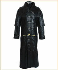 Trench Coats & Jackets Black Leather Outer Shell for Men