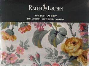 RALPH LAUREN ALLISON PATTERN TWIN FLAT SHEET, NIP, #2