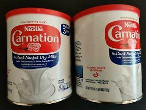 2 (Cans) X  Nestle Carnation Instant Nonfat Dry Milk 9.6oz / 272g ⭐⭐⭐⭐⭐