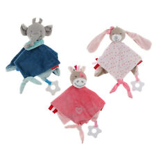 3 Pieces Baby Comforter Animal Smooth Soft Toy Plush Stuffed Washable Blanket