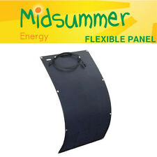 100W 12V semi-flexible black solar panel - boats, yachts, motorhomes, caravans