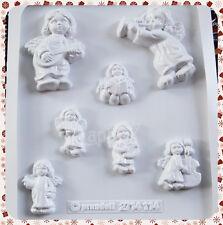 7 Stampi Angioletti Knorr Prandell Formine Molds Angeli Custodi Natale Angels