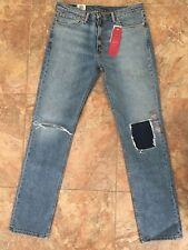 Levi's Levis Mens 511 Slim Stretch Fit Ripped & Repaired Denim Jeans 36 x 34 NWT