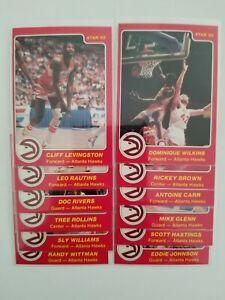 1984-85 Star ATLANTA HAWKS complete team set (Dominique Wilkins)