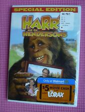 Harry and the Hendersons (DVD, 2007, Special Edition) Bigfoot SEALED Lithgow