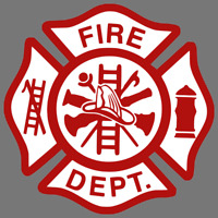 Fire Department Logo Firefighter Dept Car Truck Window Decal Vinyl Sticker USA