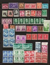 U.S. 130 Old Mint Stamps, almost all never hinged - see 2 scans !