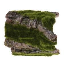 Reptile Ornament Tree Bark with Moss Hiding Amphibians Hide Cave Decor