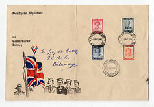 Southern Rhodesia-Victory envelope(1947) To:Lady Maragaret Barry{w/book Bygones}