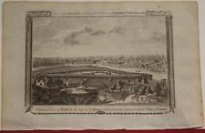 PARIS FRANCE 1782 GEORGE HENRY  MILLAR ANTIQUE ORIGINAL COPPER ENGRAVED VIEW