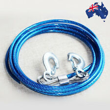 4M Car Tow Bar Cable Heavy Duty Towing Pull Rope Strap Hooks 5 Ton VTOWR 0501