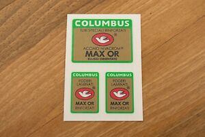 Columbus MAX OR frame +2 fork decals for campagnolo equip bike