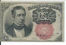 5th Issue Red Seal Ten Cents United States Fractional Short Key Currency Fr1266