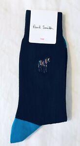 Paul Smith Men Sock Zebra Made In Italy Black