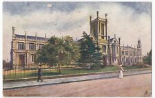 Gloucestershire; Cheltenham, The College PPC, Worksop 1906 PMK, Tuck Oilette