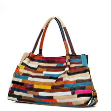 Women Genuine Leather Handbags Fashion Totes Satchel Large Shoulder Bag