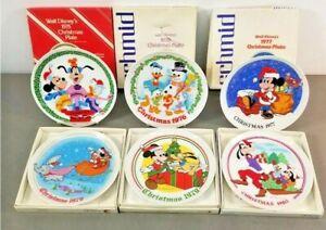 Vintage Schmid Disney Collectible Christmas plates IOB 1975-1980