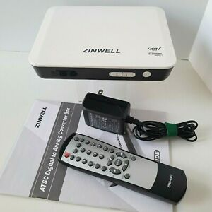 ZINWELL Digital TV Converter Box ZAT-970A Digital To Analog incl Remote Manual
