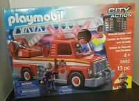 Playmobil CITY ACTION Rescue Ladder Unit FIRE TRUCK #5682 Lights & Sounds