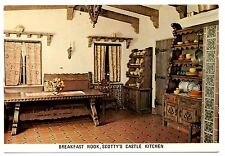 Death Valley California Postcard Scotty's Castle Breakfast Nook Spanish Kitchen
