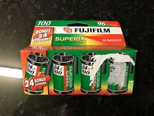 FujiFilm FujiColor Superia 100 Speed 24 Exposure Color Film 4 Pack EXPIRED