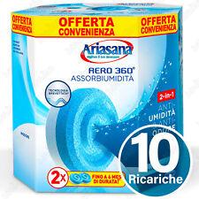 10 RICARICHE TAB ARIASANA PURE AERO 360 INODORE ASSORBI UMIDITA DEUMIDIFICATORE