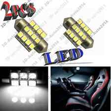 2pcs Xenon White 3528 LED Lights 27mm /28mm 12 SMD Dome Map Light DE3021, DE3022