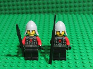 Lot of 2 Red Black Dragon Knight Kingdoms 70404 Castle Lego minifigs WH19