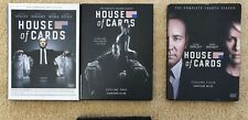 House of Cards DVD sets: Seasons 1, 2, and 4