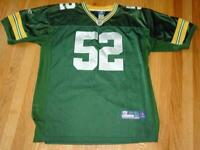 Green Bay Packers Jersey - CLAY MATTHEWS #52 (Sewn on Name & #s) : Size 52