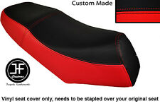 BLACK AND RED VINYL CUSTOM FITS LEXMOTO GLADIATOR 125 DUAL SEAT COVER ONLY