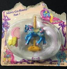 Vintage Little Beauties Ponies Pony 1989 Merry-Go-Round #8109 Multi Toys Corp
