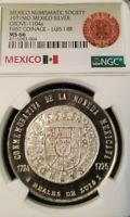 1971 MEXICO SILVER GROVE 1104a LUIS I 1725 8 REALES NGC MS 66 HIGH GRADE BEAUTY