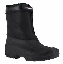 Groundwork LS90 Mens Stable Yard Country Waterproof Winter Snow Front Zip BOOTS UK 11 Black