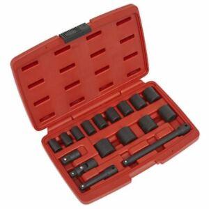 """Sealey AK68217 Impact Socket Set 17pc 3/8""""Sq Drive Metric"""