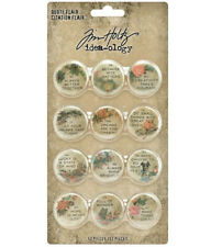 Tim Holtz Quote Flair Vintage Styled Buttons